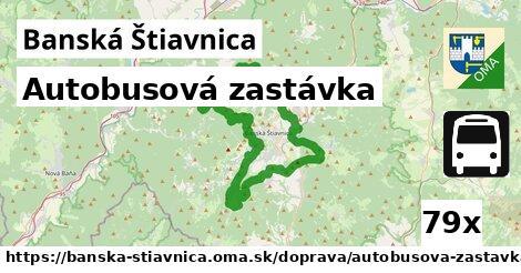autobusová zastávka v Banská Štiavnica