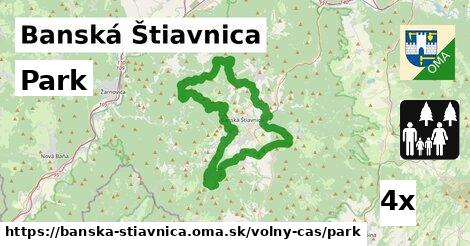 park v Banská Štiavnica