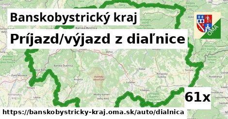 príjazd/výjazd z diaľnice v Banskobystrický kraj