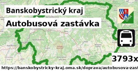 autobusová zastávka v Banskobystrický kraj