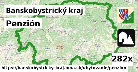 Penzión, Banskobystrický kraj