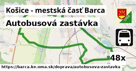 autobusová zastávka v Košice - mestská časť Barca