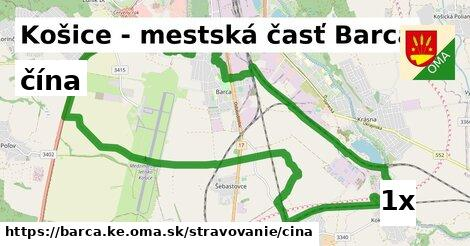 čína v Košice - mestská časť Barca