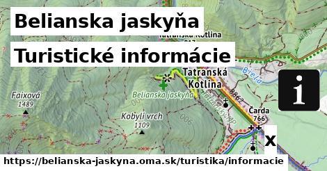 ilustračný obrázok k Turistické informácie, Belianska jaskyňa