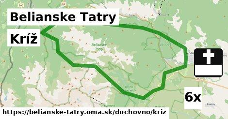ilustračný obrázok k Kríž, Belianske Tatry