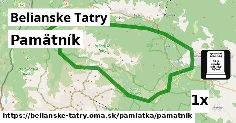 ilustračný obrázok k Pamätník, Belianske Tatry