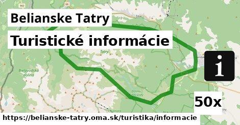 ilustračný obrázok k Turistické informácie, Belianske Tatry