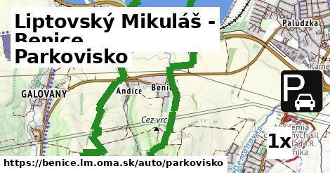 ilustračný obrázok k Parkovisko, Liptovský Mikuláš - Benice