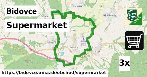supermarket v Bidovce