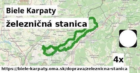 železničná stanica v Biele Karpaty