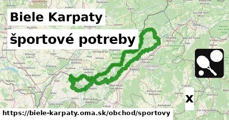 športové potreby v Biele Karpaty