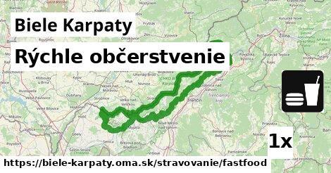 rýchle občerstvenie v Biele Karpaty