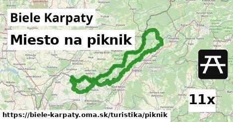 miesto na piknik v Biele Karpaty