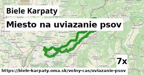 miesto na uviazanie psov v Biele Karpaty