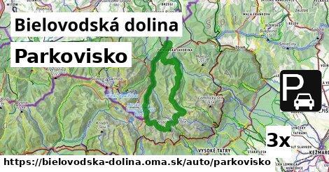 parkovisko v Bielovodská dolina