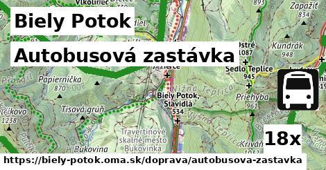 autobusová zastávka v Biely Potok