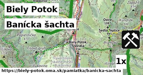 banícka šachta v Biely Potok