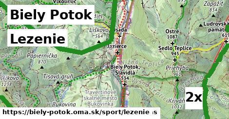 lezenie v Biely Potok