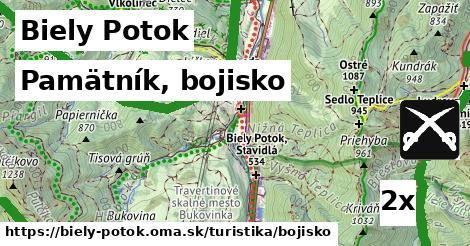 pamätník, bojisko v Biely Potok