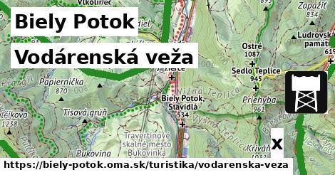 vodárenská veža v Biely Potok