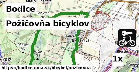 požičovňa bicyklov v Bodice