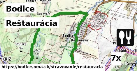 reštaurácia v Bodice