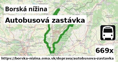 ilustračný obrázok k Autobusová zastávka, Borská nížina