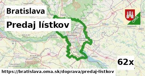 predaj lístkov v Bratislava