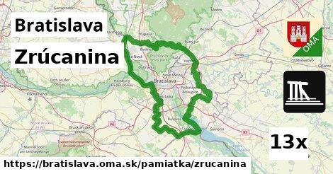 zrúcanina v Bratislava