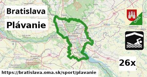 Plávanie, Bratislava