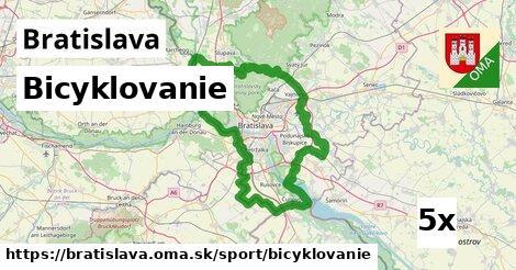 ilustračný obrázok k Bicyklovanie, Bratislava