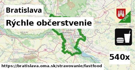 rýchle občerstvenie v Bratislava
