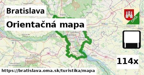 orientačná mapa v Bratislava