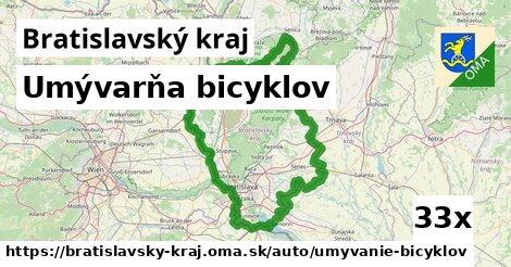 umývarňa bicyklov v Bratislavský kraj
