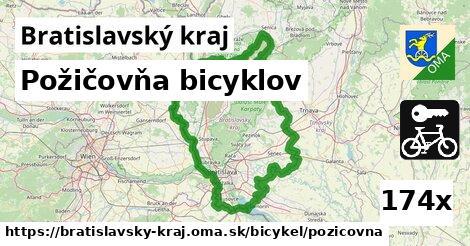 požičovňa bicyklov v Bratislavský kraj