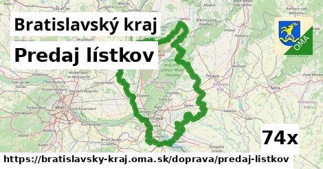 predaj lístkov v Bratislavský kraj