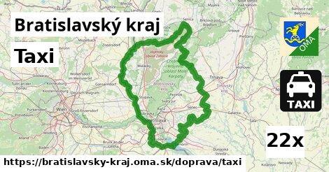 taxi v Bratislavský kraj