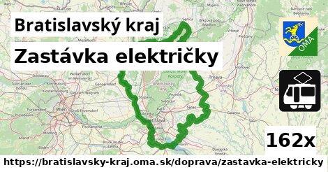 zastávka električky v Bratislavský kraj