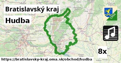 hudba v Bratislavský kraj