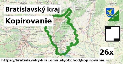 kopírovanie v Bratislavský kraj