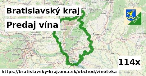 predaj vína v Bratislavský kraj