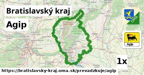 Agip v Bratislavský kraj