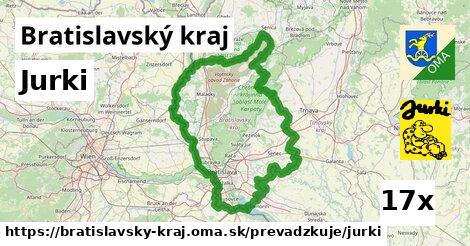 Jurki v Bratislavský kraj