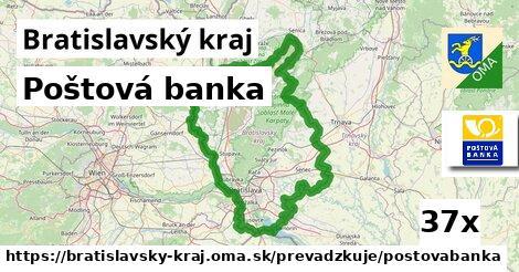 Poštová banka v Bratislavský kraj