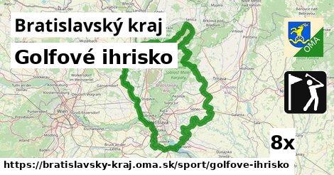 golfové ihrisko v Bratislavský kraj