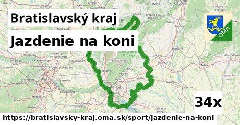 jazdenie na koni v Bratislavský kraj