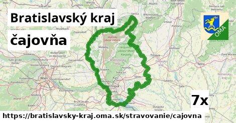 čajovňa v Bratislavský kraj