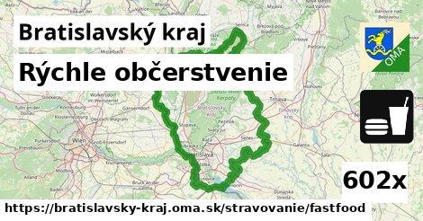 rýchle občerstvenie v Bratislavský kraj