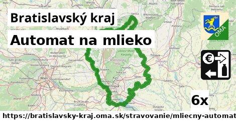automat na mlieko v Bratislavský kraj