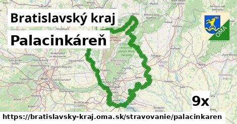 palacinkáreň v Bratislavský kraj